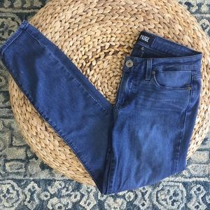 Paige Verdugo Crop Blue Skinny Jeans 27